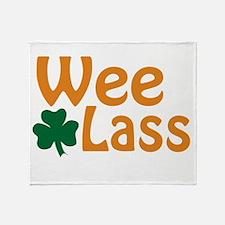 Wee Lass Shamrock Throw Blanket