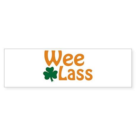 Wee Lass Shamrock Sticker (Bumper)