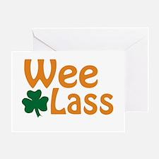 Wee Lass Shamrock Greeting Card