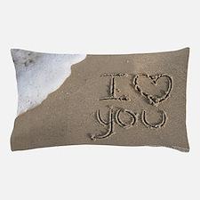 i love you Sand Script Pillow Case