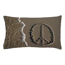 peace sign Sand Script Pillow Case