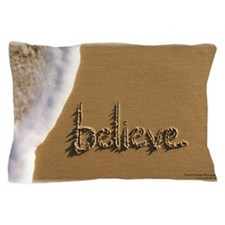 believe Sand Script Pillow Case