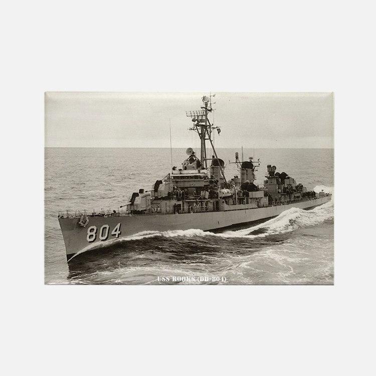USS ROOKS Rectangle Magnet