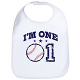 Funny 1st birthday Cotton Bibs