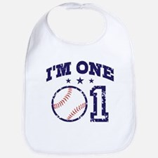 Cute 1 Year Old Baseball Bib