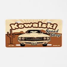 Kowalski Speed Shop Aluminum License Plate