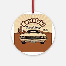 Kowalski Speed Shop Ornament (Round)