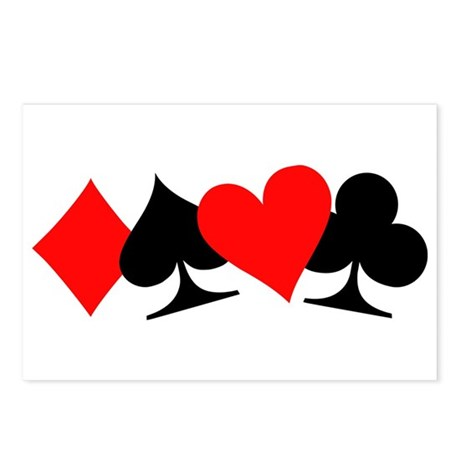 Poker signs Postcards (Package of 8)