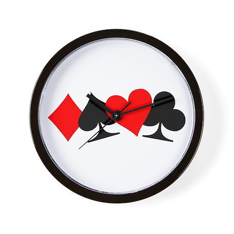 Poker signs Wall Clock