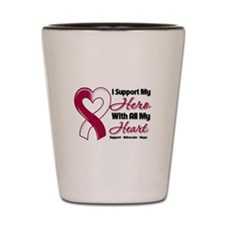 Head Neck Cancer Support Shot Glass