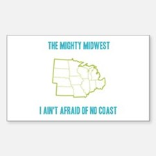 the Mighty Midwest Sticker (Rectangle)