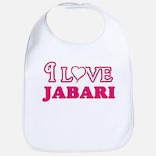 I Love Jabari Baby Bib
