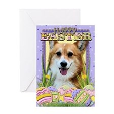 Easter Egg Cookies - Corgi Greeting Card