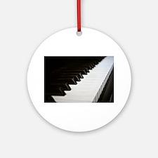 Piano Keys Ornament (Round)