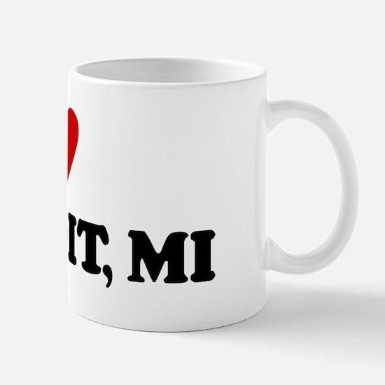 I Love Detroit Mug