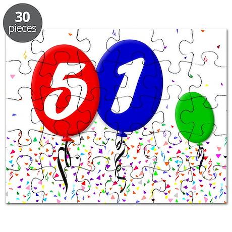 51st Birthday Puzzle
