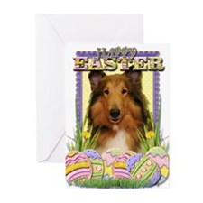 Easter Egg Cookies - Collie Greeting Cards (Pk of