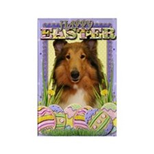 Easter Egg Cookies - Collie Rectangle Magnet
