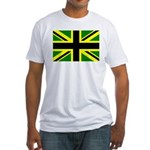 Black Union Jack Fitted T-Shirt