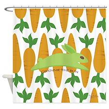 Gwennie The Bun Carrots Shower Curtain