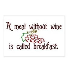 A Meal Without Wine is Breakfast Postcards (Packag
