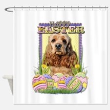 Easter Egg Cookies - Cocker Shower Curtain