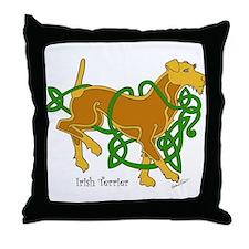 Cute Irish terrier Throw Pillow