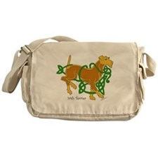 Cute Irish terrier Messenger Bag