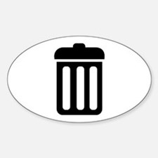 Trash bin Sticker (Oval)