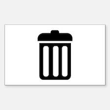 Trash bin Decal