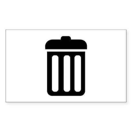 Trash bin Sticker (Rectangle)