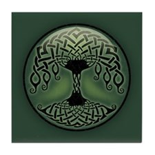 Cup of Green Tile Coaster