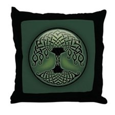 Cup of Green Throw Pillow