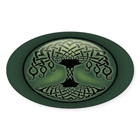 Cup of Green Sticker (Oval)