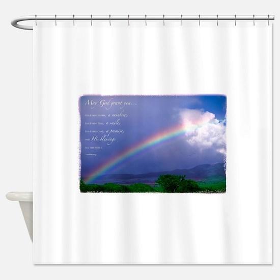Rainbow Blessing Shower Curtain
