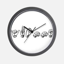 Yvonne-dk grey Wall Clock