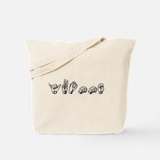Yvonne-dk grey Tote Bag