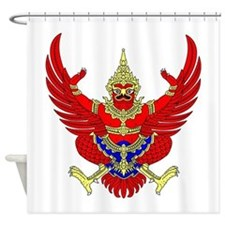 Thai Garuda Symbol Shower Curtain