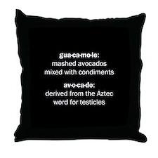 Guacamole Testicles Throw Pillow
