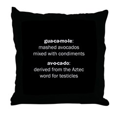 Guacamole Testicles Throw Pillow