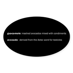 Guacamole Testicles Decal
