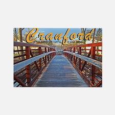 Cranford Footbridge Capital o Rectangle Magnet