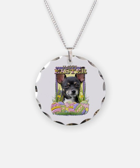 Easter Egg Cookies - Chihuahua Necklace Circle Cha