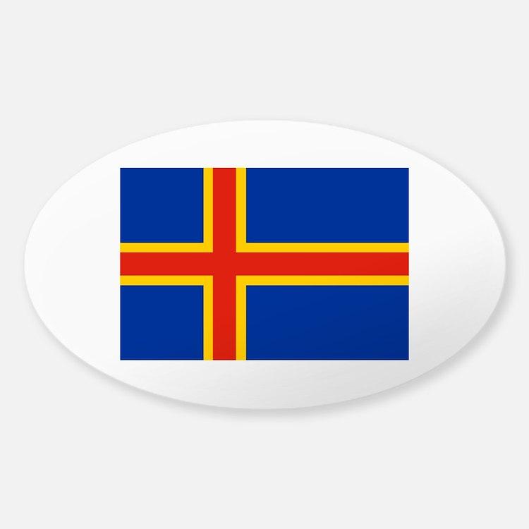 Aaland Islands Sticker (Oval)