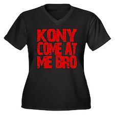 Kony Come at Me Bro Women's Plus Size V-Neck Dark