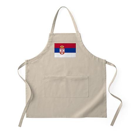 Serbia State Flag BBQ Apron