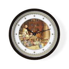 Mrs. Claus & Elves Bake Cookies Wall Clock