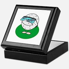 Golf Ball with Sunglasses Keepsake Box