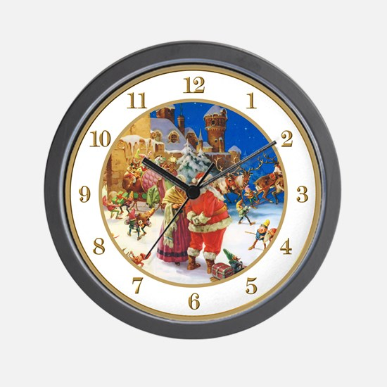 North Pole Christmas Eve Wall Clock