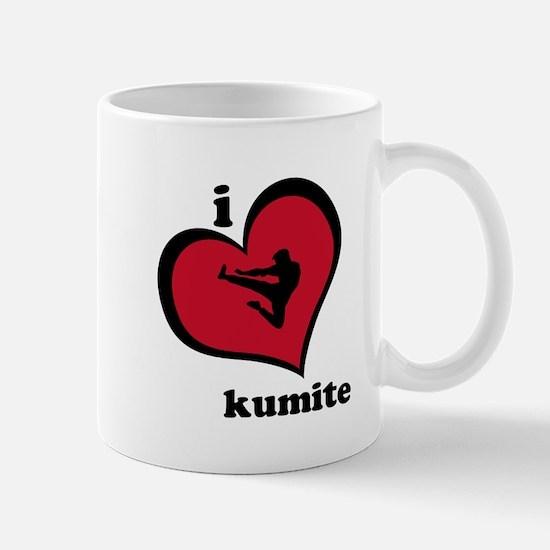 I Love Kumite Karate Gear - Mug